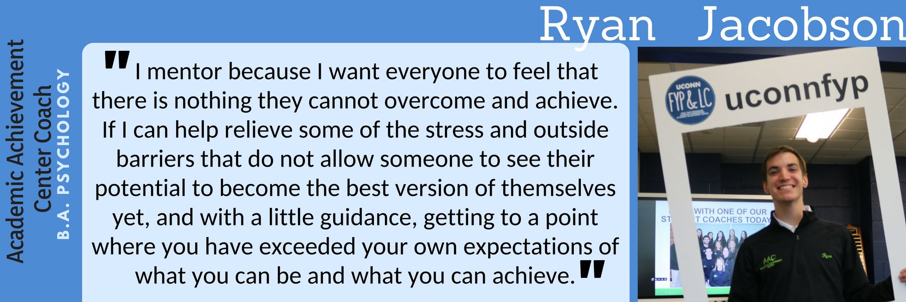 Ryan Jacobson Why I mentor